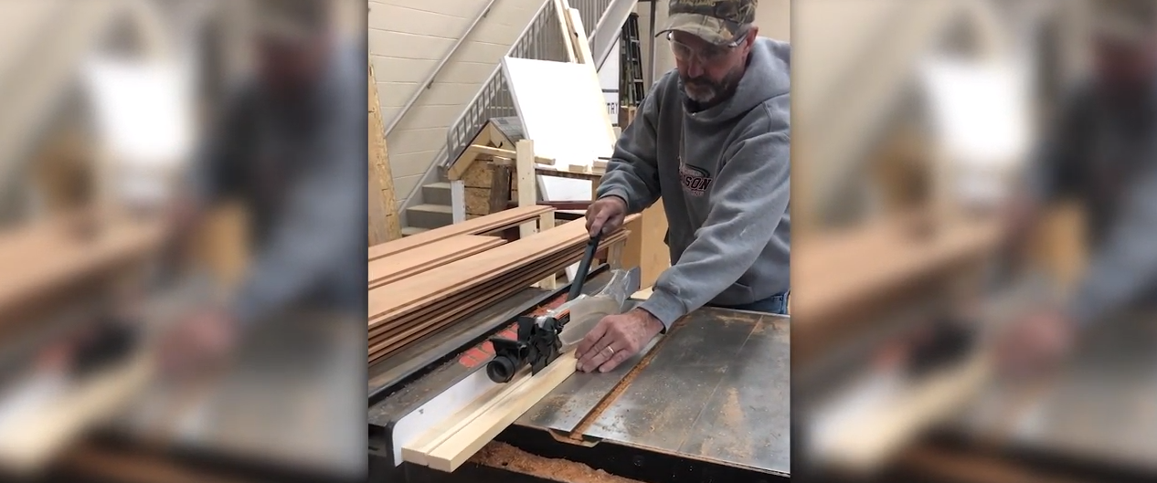 luxite blade on a saw stop table saw