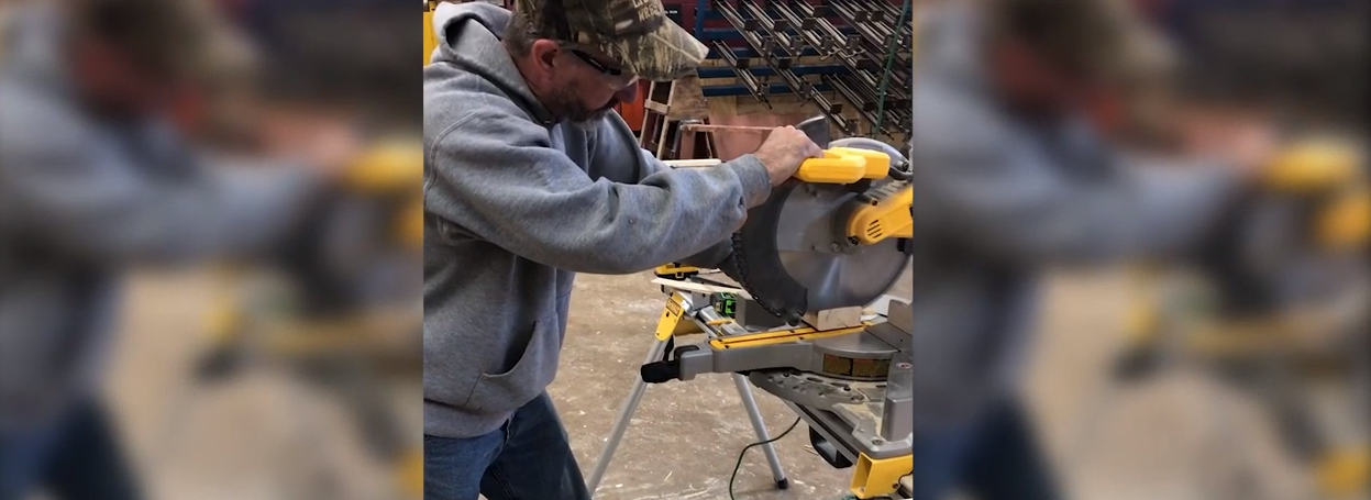 luxite crosscut blade on a miter saw